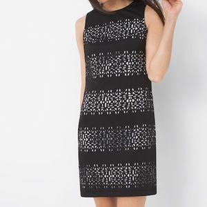 WHBM Sleeveless Textured Cutout Sheath Dress